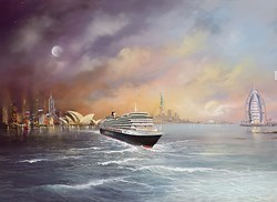 Voyage of Memories - Queen Victoria 2013 by Philip Gray -  sized 20x15 inches. Available from Whitewall Galleries